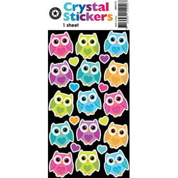 Crystal Kooky Owls Stickers WEB5154