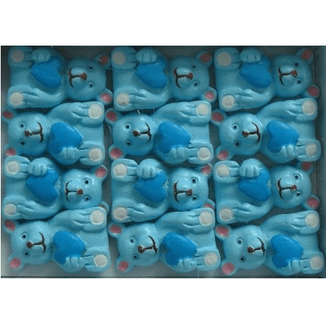 Wooden Blue Bear Stick Ons