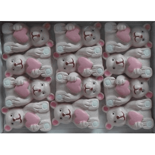 Wooden Pink Bear Stick Ons | First Birthday Themed Party Supplies