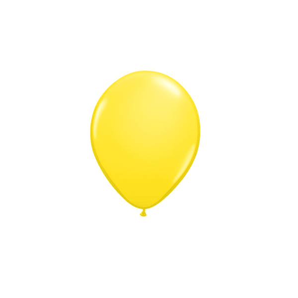 Pack of 12 Mini Balloons - Yellow