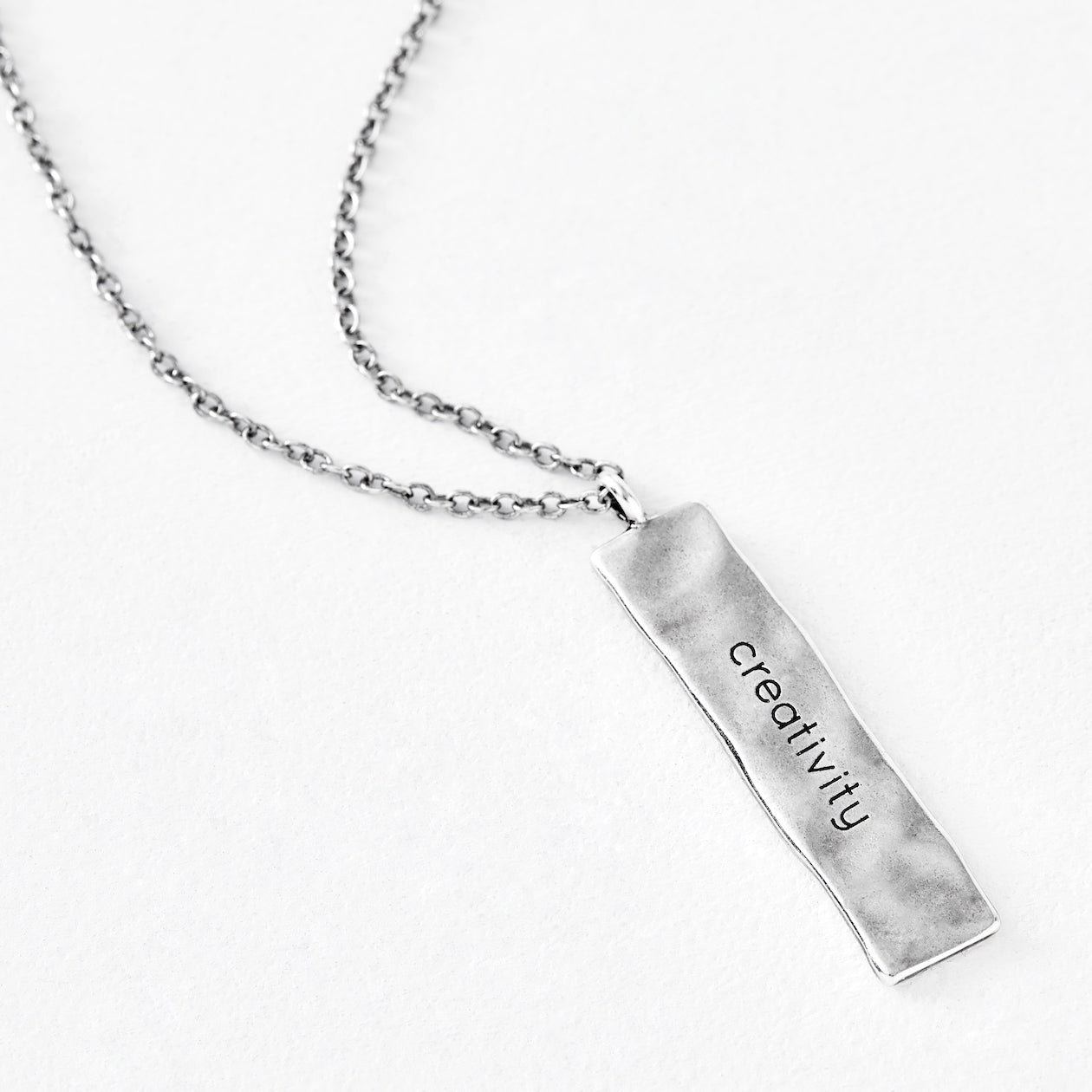 "Luv AJ ""Creativity"" Silver Bar Pendant"