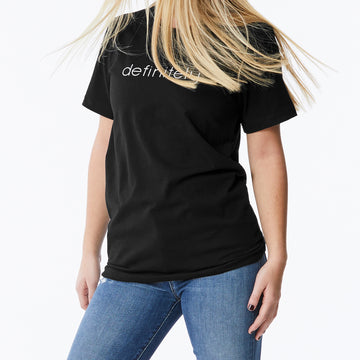 c'est beau1872 definitely logo short sleeve tee in black