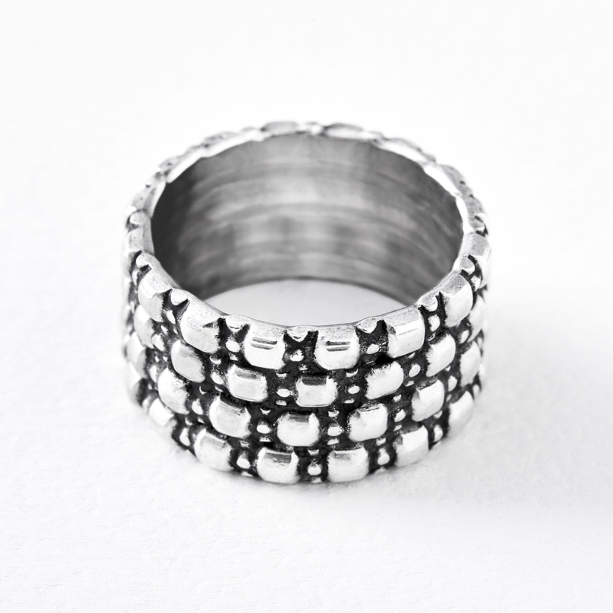 influence ring silver