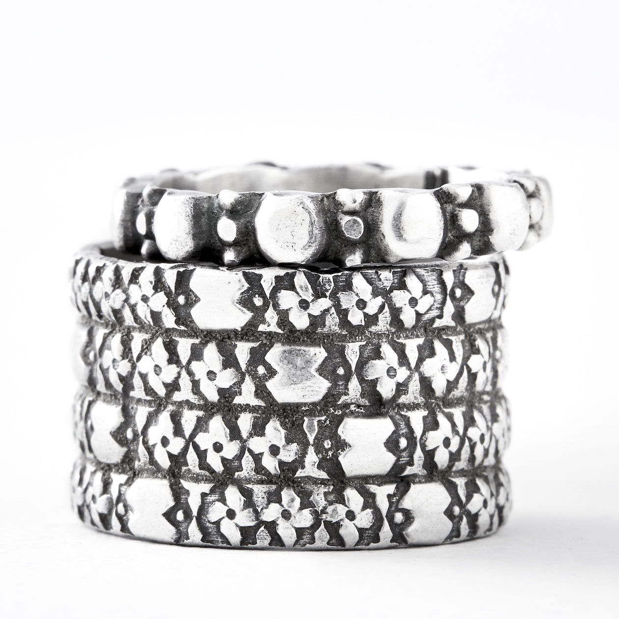 solidify stacking ring silver