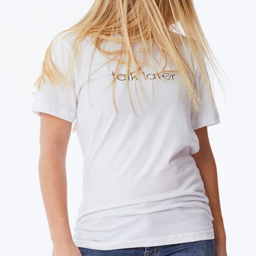 c'est beau1872 – Talk Later Logo Tshirt in White