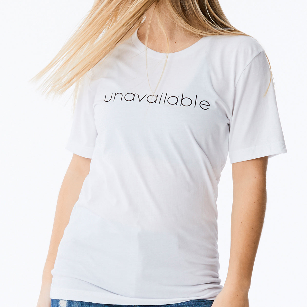 c'est beau1872 – Unavailable Logo Tee in White