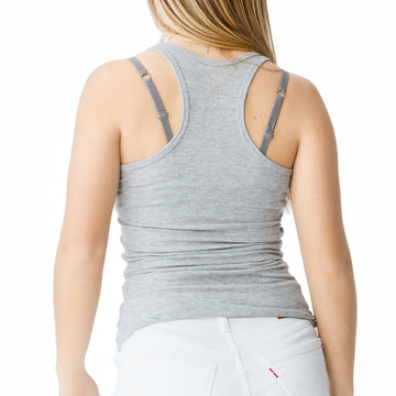 Splits59 Ashby Ribbed Tank in Heather Gray