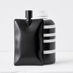 organic liquid flask black