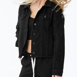 blank nyc ghosted jacket in black denim