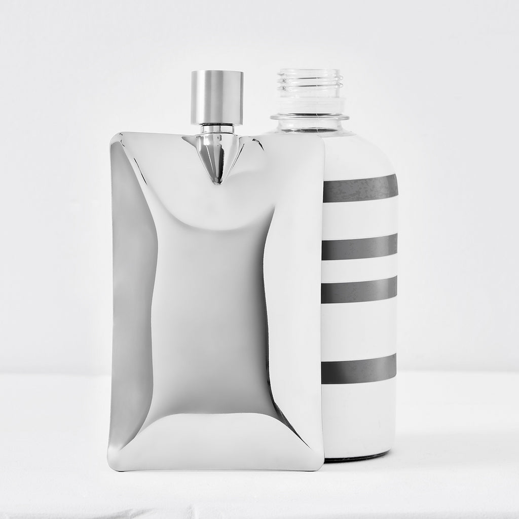 organic liquid flask chrome