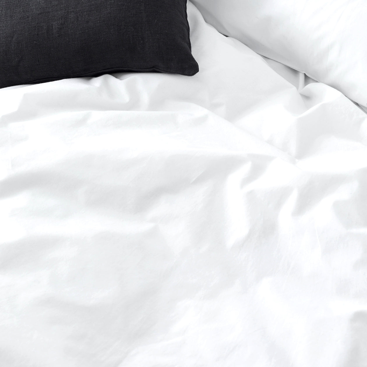 solid cotton sheet set white