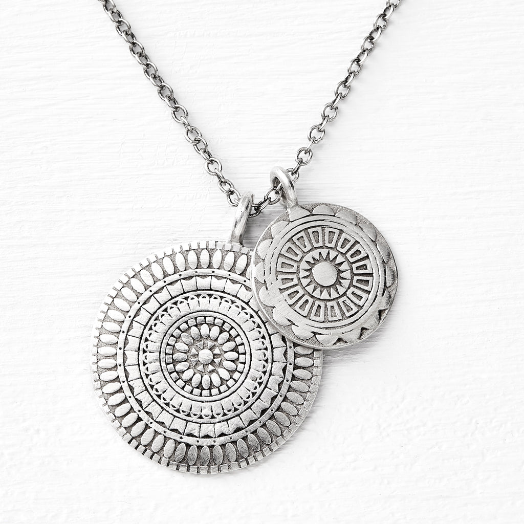 double medallion pendant