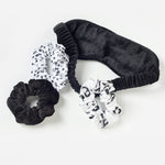 velvet eye mask + scrunchies