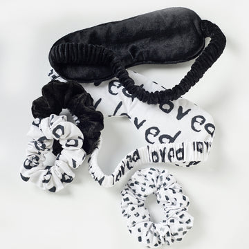 loved eye mask + scrunchie set