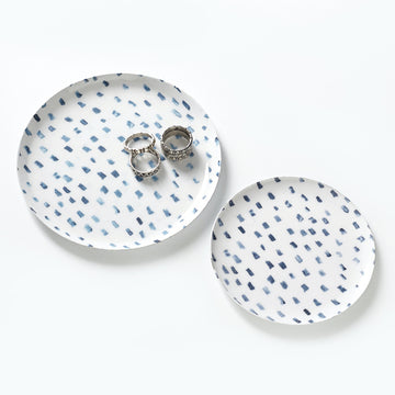 marine dot jewelry dish s/2