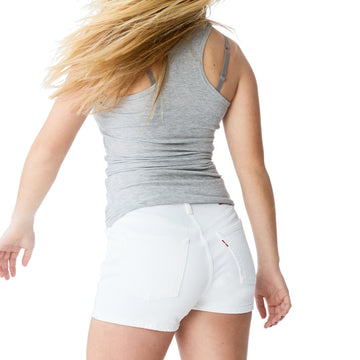Levi's 501 High Rise Short in White