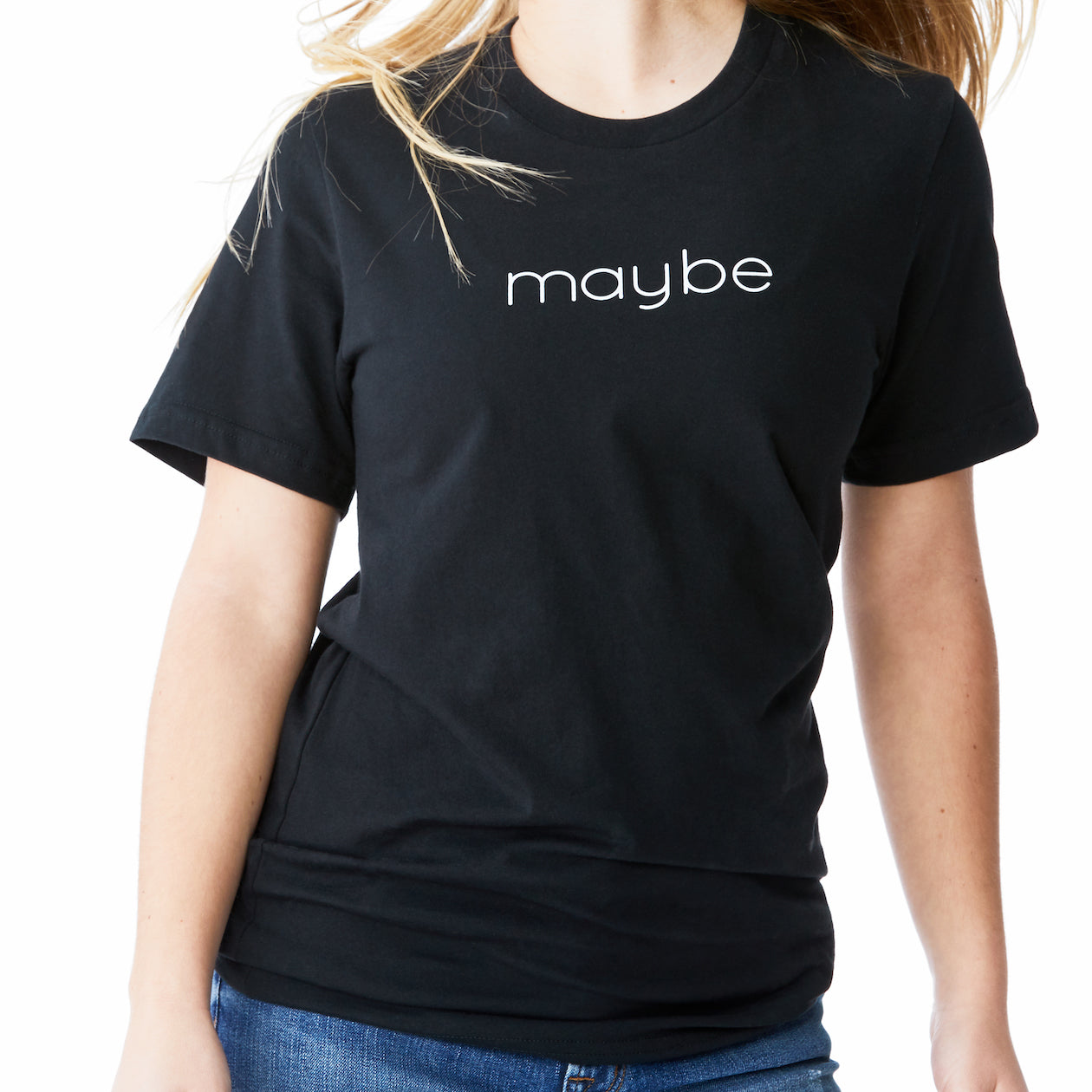 c'est beau1872 – Maybe Logo Tee in Black