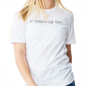 c'est beau1872 – Moving On Logo Tshirt in White