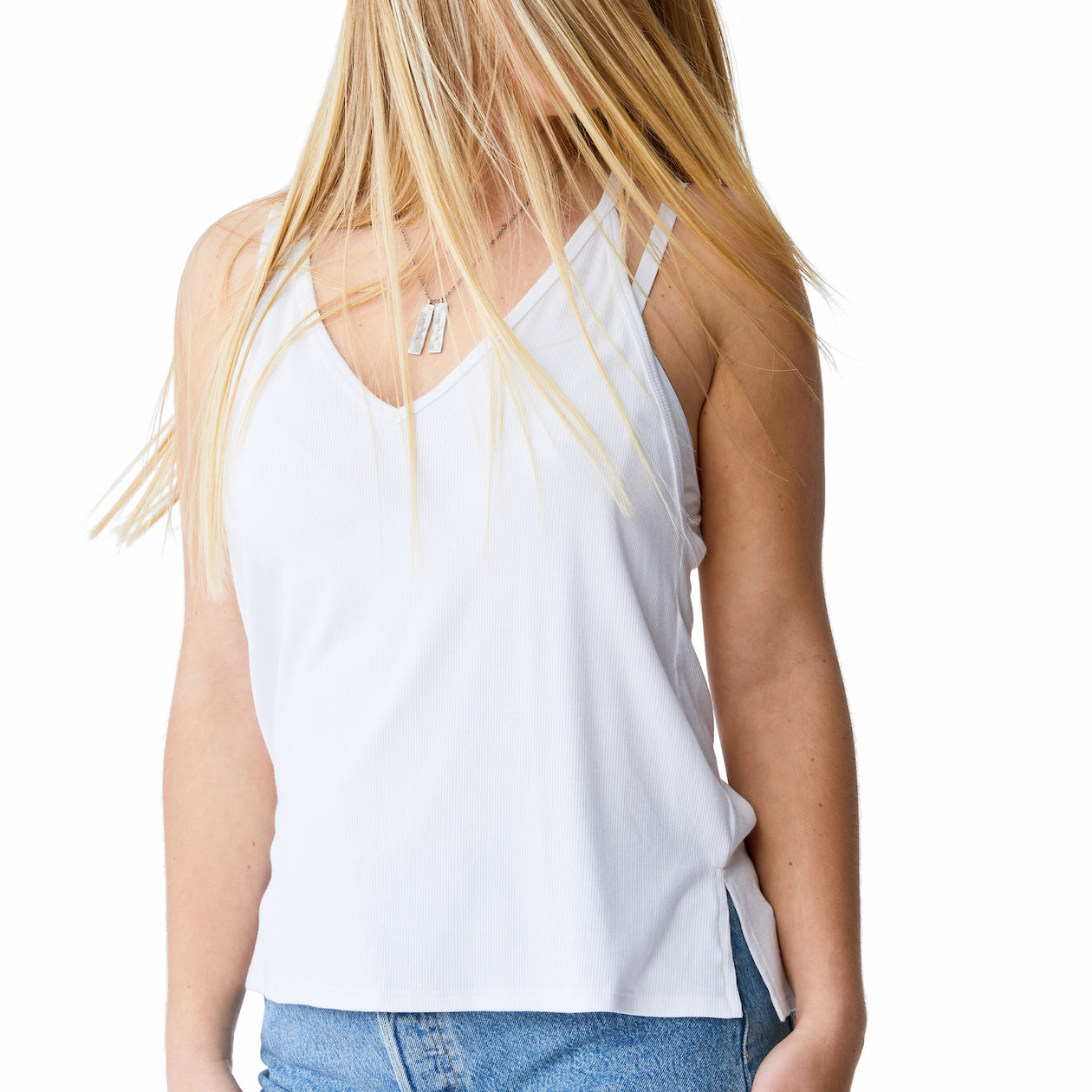 Joah Brown – Palms Tank in White