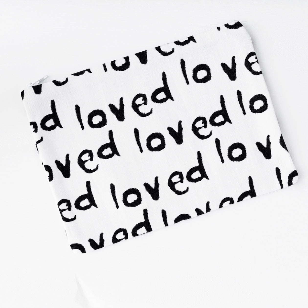 loved print - pouch