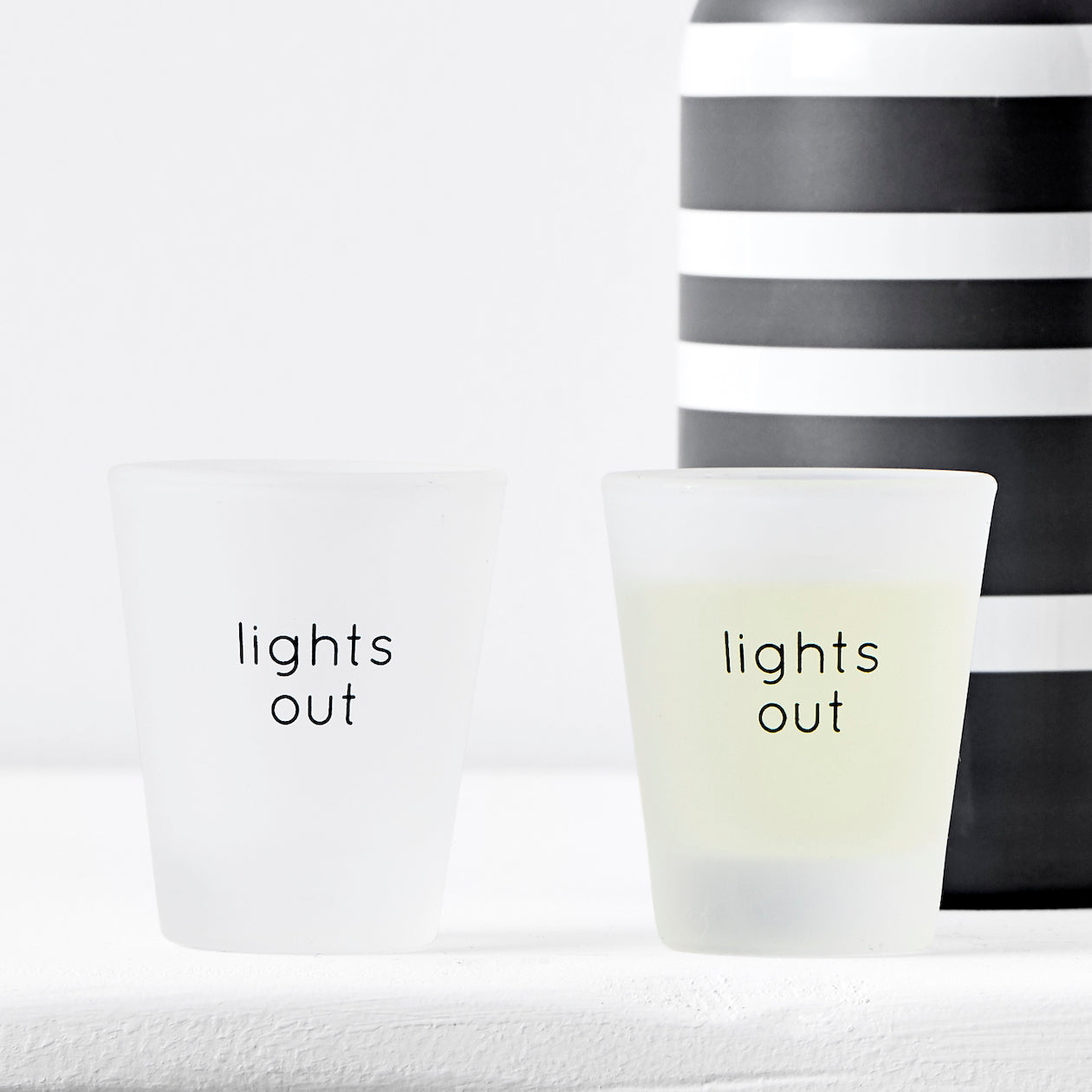 lights out shot glass s/4