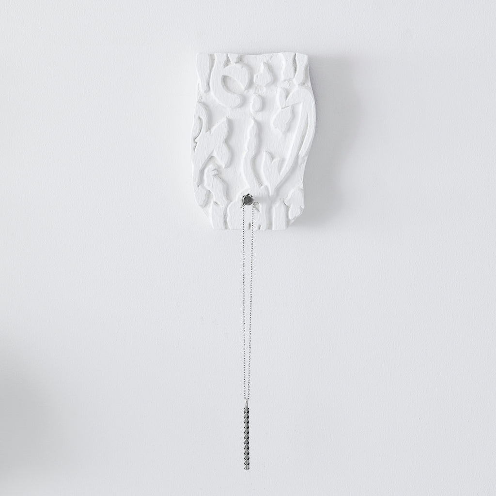 tribal pattern wall hook white
