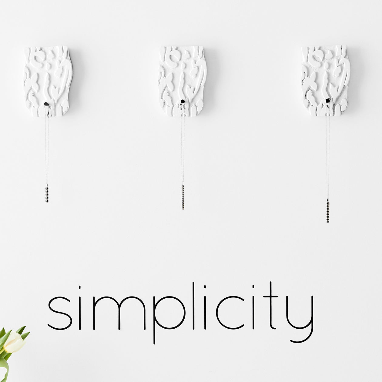 simplicity wall decal matte black