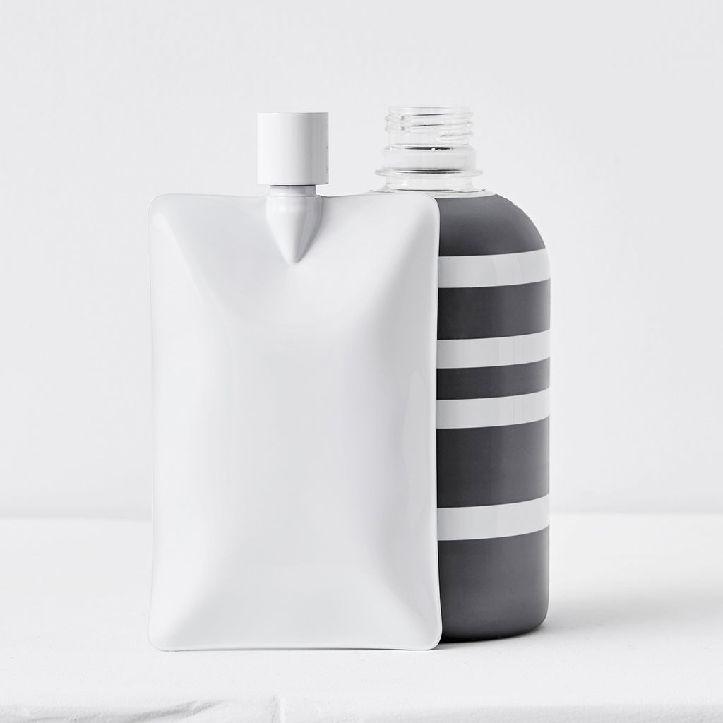 organic liquid flask white