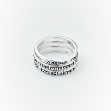 believe stacking ring