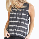 washed stripe love tank
