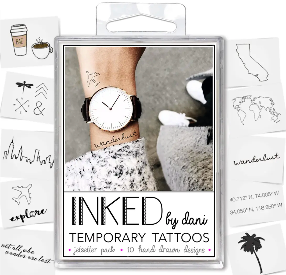 the jet setter pack - temporary tattoos