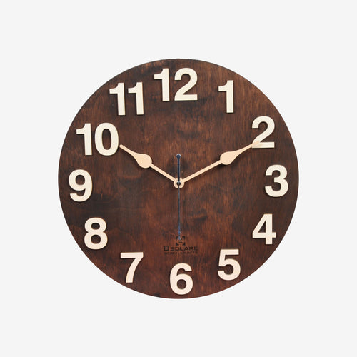 Dark Walnut Wall Clock BSWC048RS