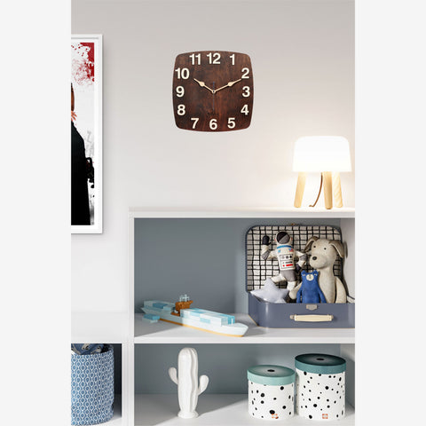Dark Walnut Wall Clock BSWC048TS