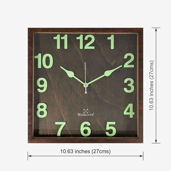 Radium Night Glow Wall Clock BSWC076S