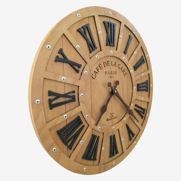 Farmhouse Wood Wall Clock BSWC080