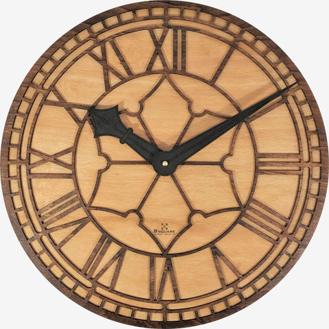 Wooden Wall Clock - Replica of Mumbai CST Tower Clock