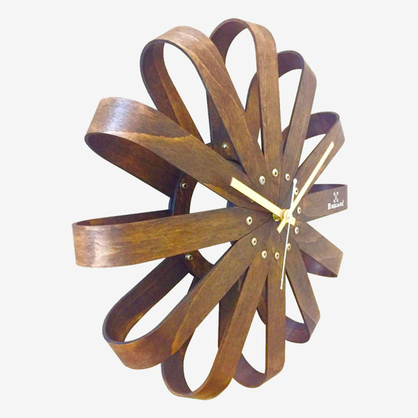 Wood Ribbon Wall Clock BSWC072