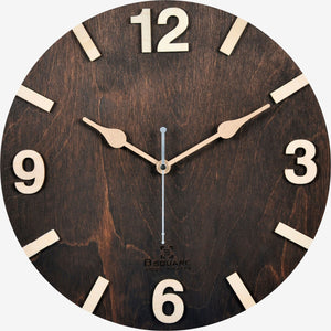 Dark Walnut Wall Clock BSWC048D