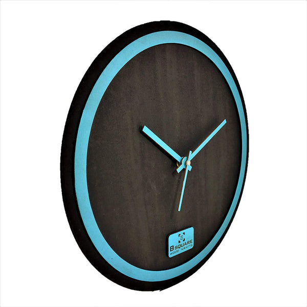 Blue Rim Wall Clock BSWC078B