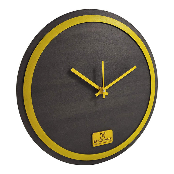 Yellow Rim Wall Clock BSWC078Y