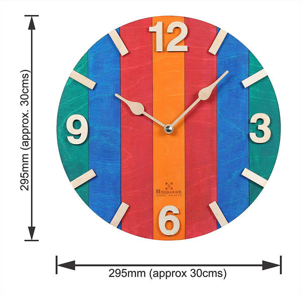 Wood Stripes Wall Clock BSWC046