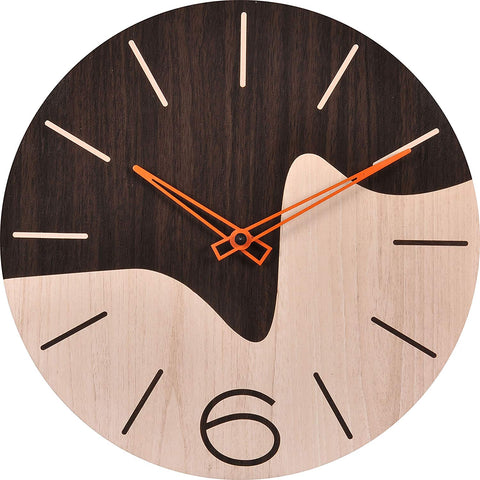 Two Tone Wood Wall Clock BSWC036