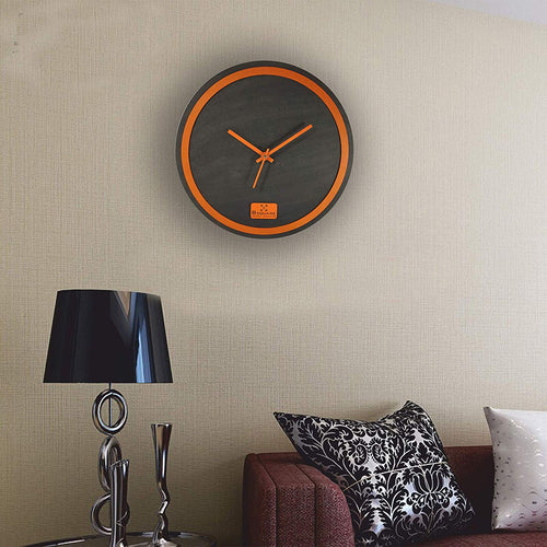 Orange Rim Wall Clock BSWC078O