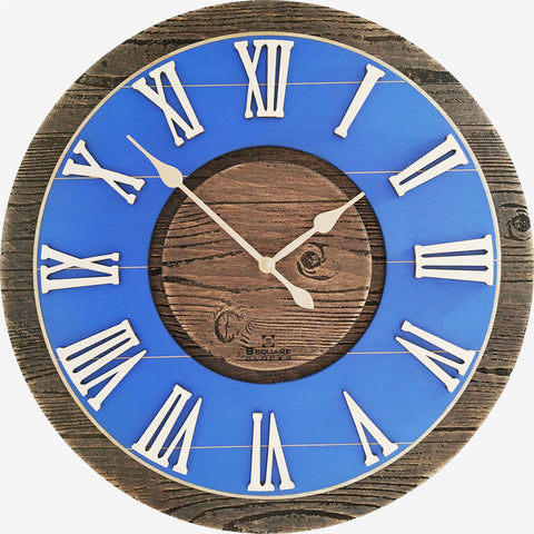 B SQUARE Farmhouse Vintage Rustic Wood Wall Clock BSWC088 Size: 15.5inch