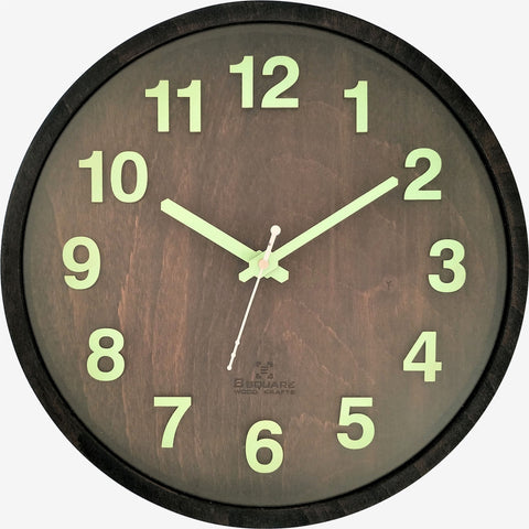 Radium Night Glow Wall Clock BSWC082