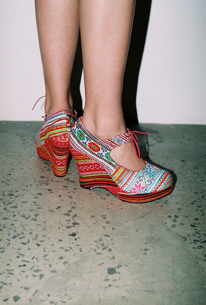 NEON Hilltribe Platforms Handmade in Thailand by THIS IS NOT A MALL