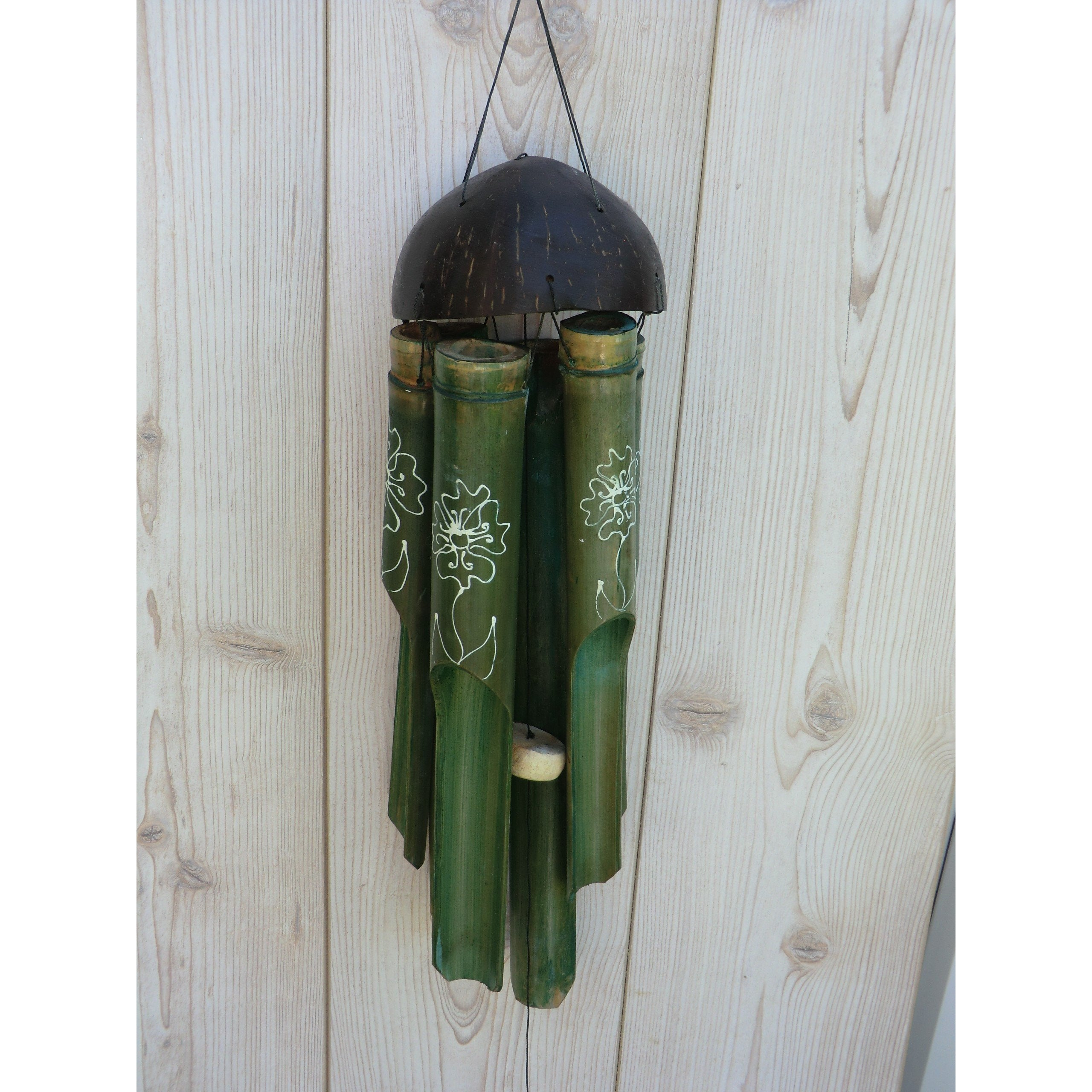 Green Wooden Wind Chimes - Matico