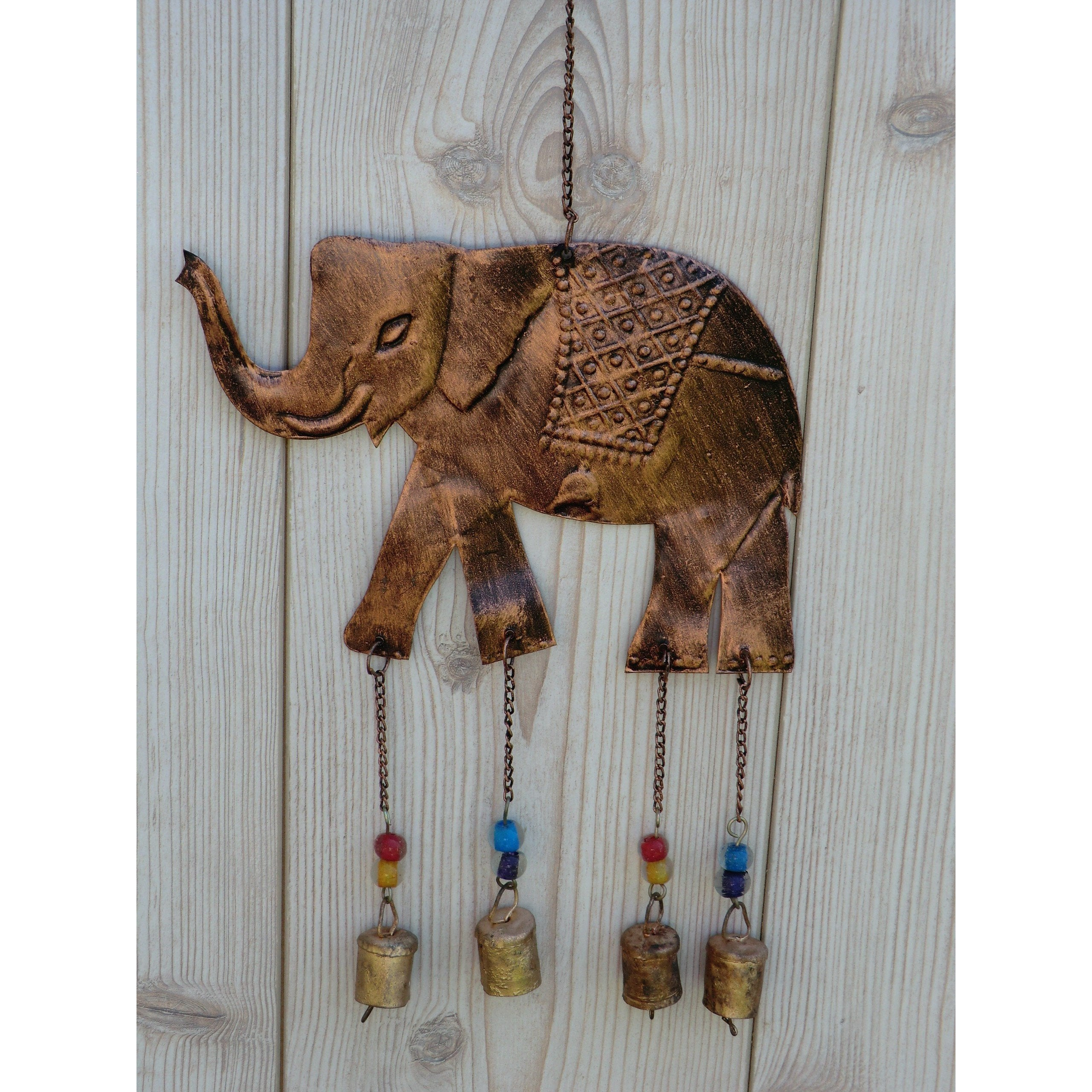 Metal Elephant Windchime - Matico