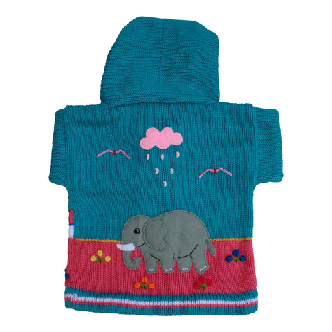 Children's Sea Green Cardigan - Safari - Matico