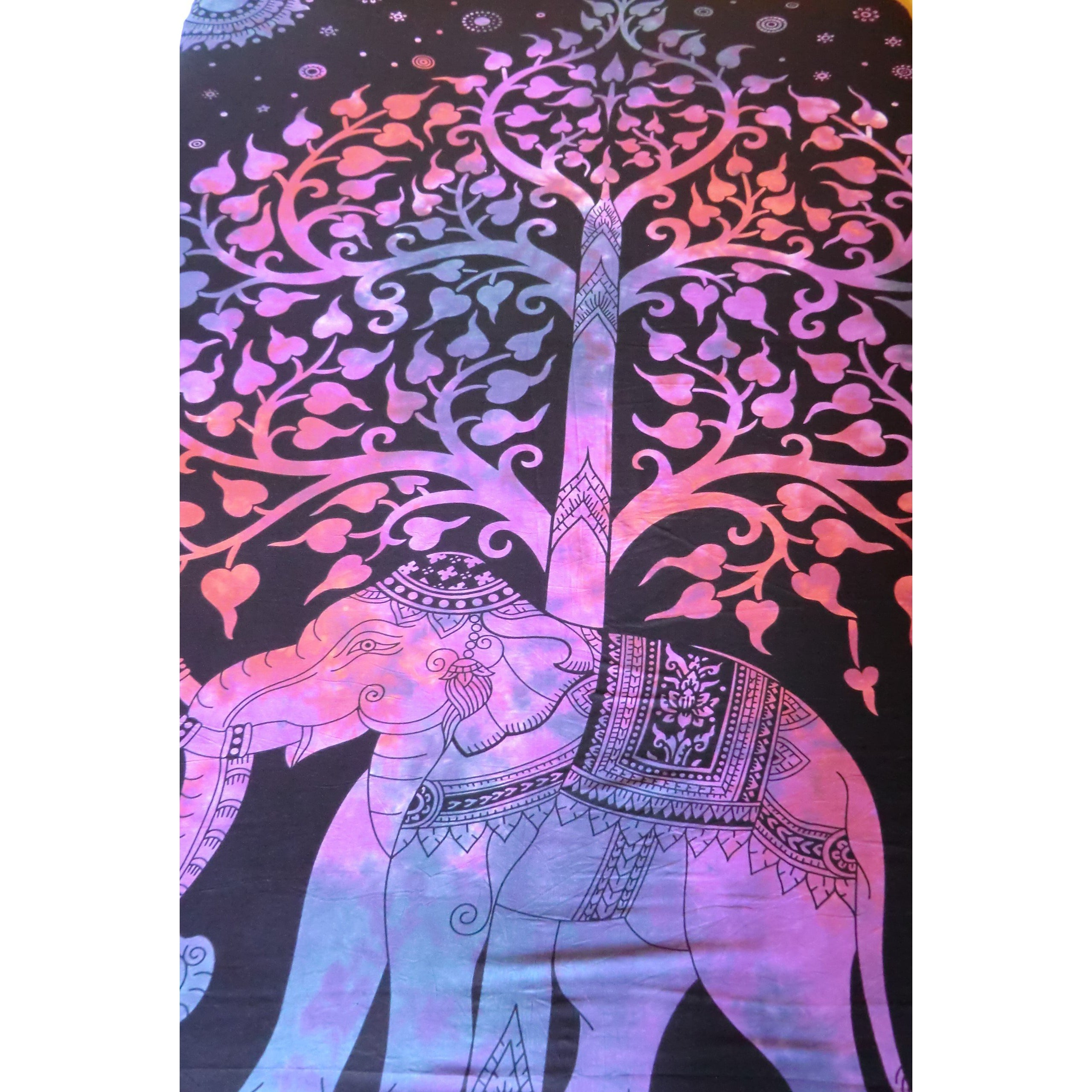 Purple Elephant/ Tree of Life Throw - Matico